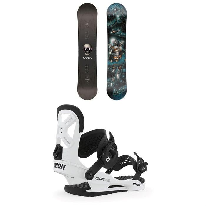 CAPiTA - Scott Stevens Mini Snowboard - Boys' + Union Cadet Pro Snowboard Bindings - Kids' 2020