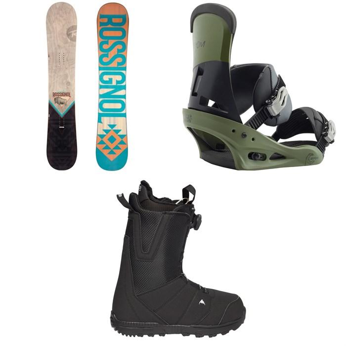Rossignol - Templar Snowboard 2019 + Burton Custom Snowboard Bindings 2019 + Moto Boa R Snowboard Boots 2018