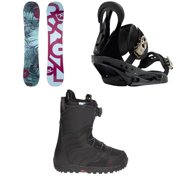 Rossignol - Meraki Snowboard 2019 + Burton Citizen Snowboard Bindings 2019 + Mint Boa R Snowboard Boots - Women's 2018