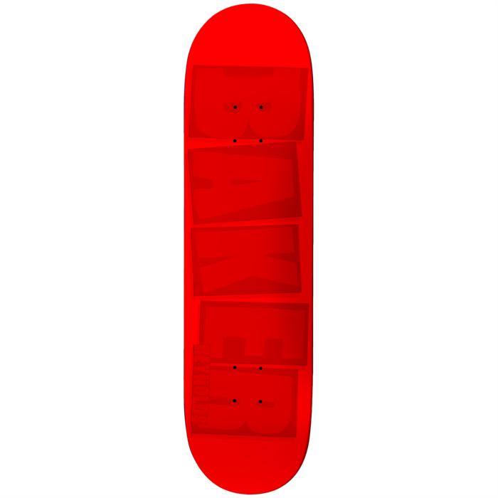Baker - AR Brand Name Red Tonal 7.875 Skateboard Deck