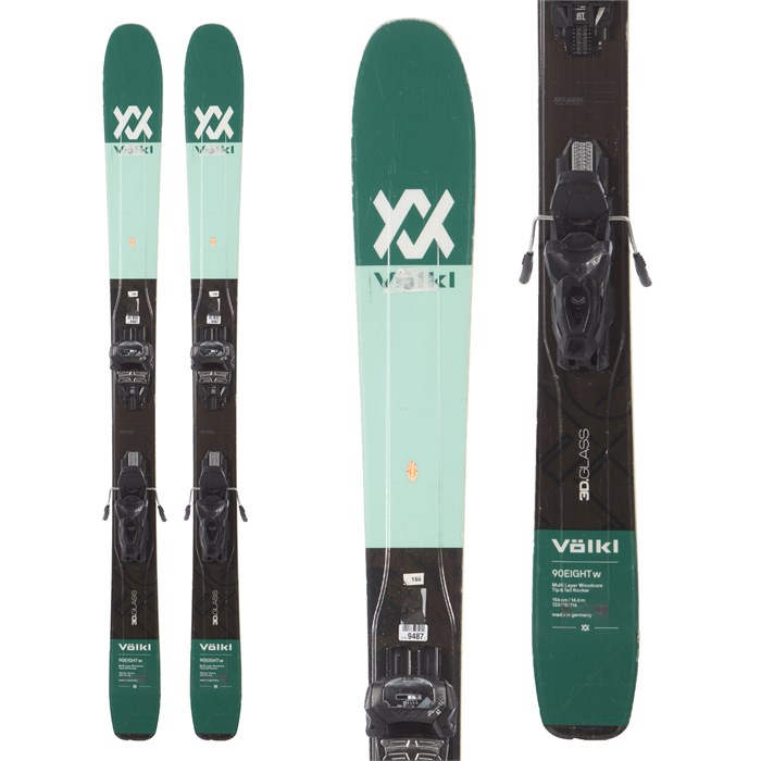 Volkl 90Eight Skis + Tyrolia Attack 11 AT Bindings