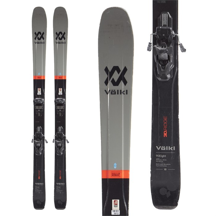 Volkl 90Eight Skis + Tyrolia Attack² 13 AT Bindings 2020