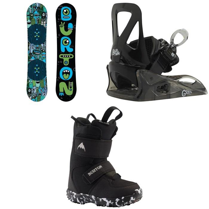 Burton - Chopper Snowboard + Grom Snowboard Bindings - Little Kids' + Mini Grom Snowboard Boots - Little Kids' 2020