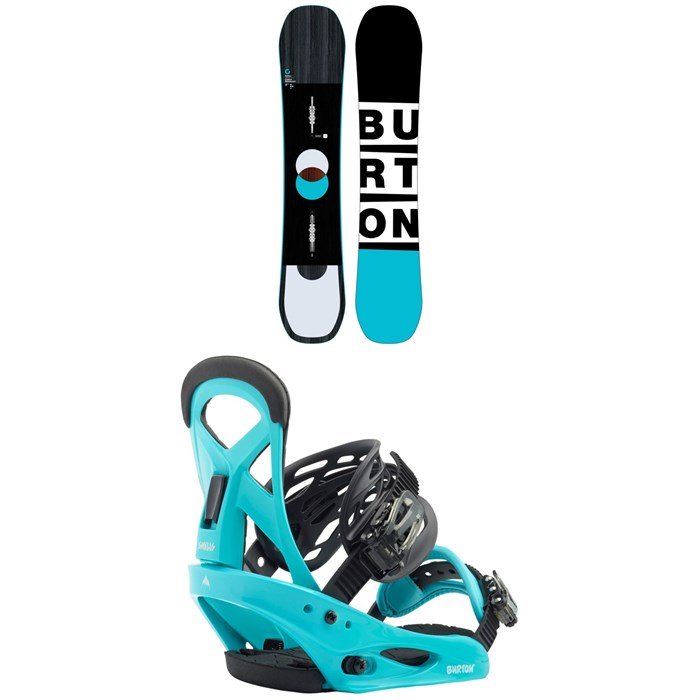 Burton - Custom Smalls Snowboard - Kids + Burton Smalls Snowboard Bindings - Kids' 2020