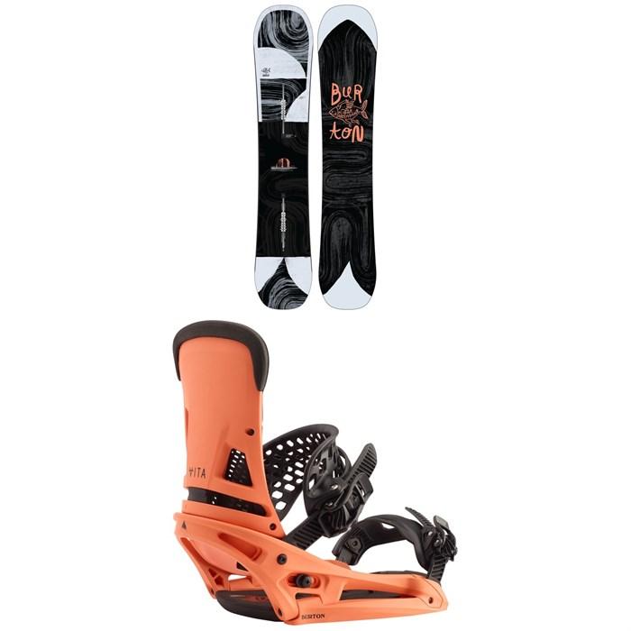 Burton - Flight Attendant Snowboard + Burton Malavita EST Snowboard Bindings 2020