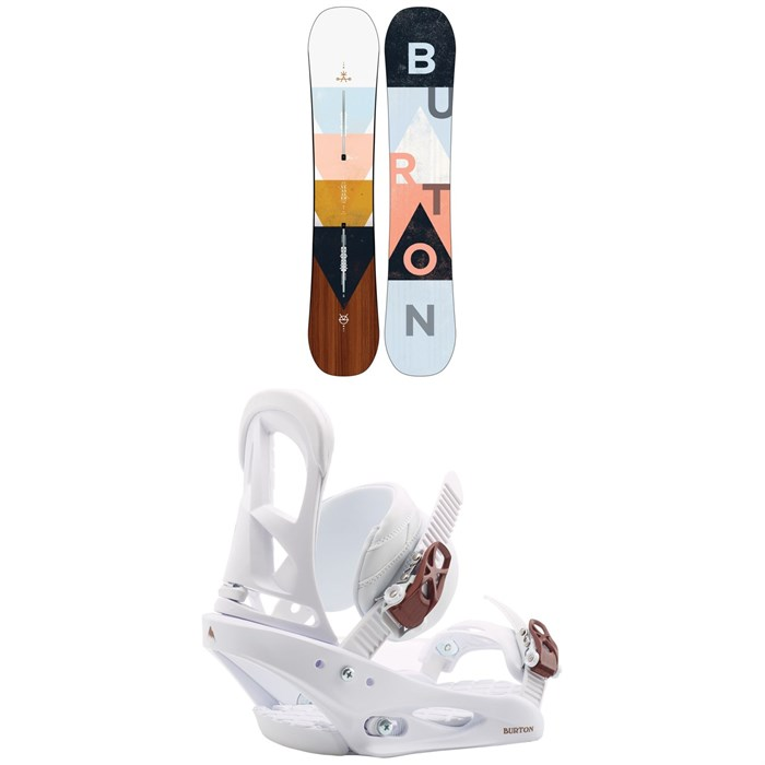 Burton - Yeasayer Flying V Snowboard - Women's + Burton Stiletto Snowboard Bindings - Women's 2020