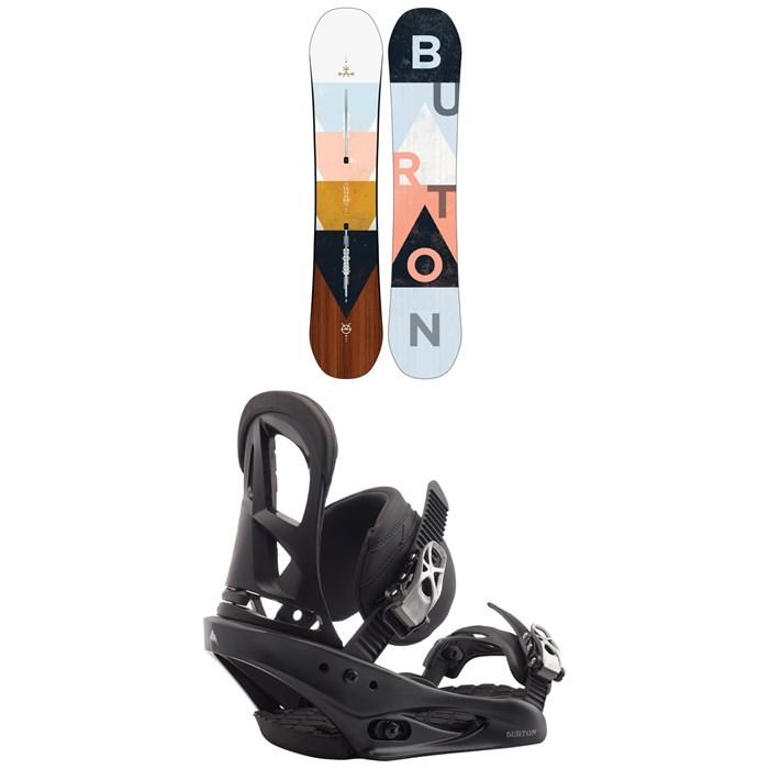 Burton - Yeasayer Snowboard - Women's + Burton Stiletto Snowboard Bindings - Women's 2020