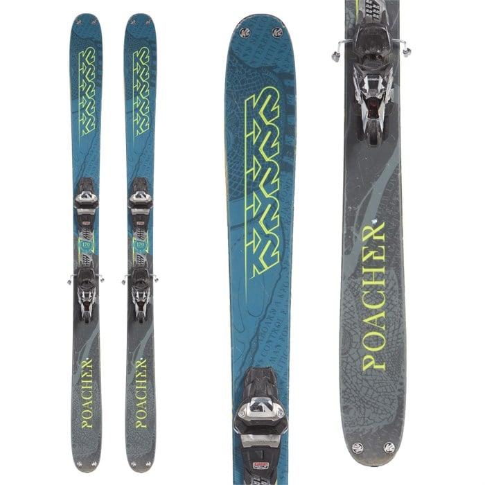 K2 Poacher Skis + Marker Griffon 13 Demo Bindings 2019