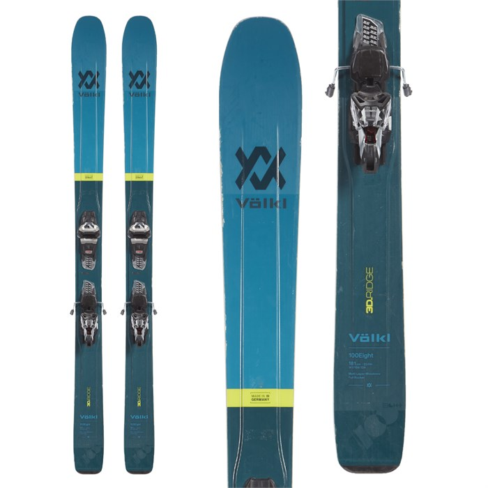 Volkl - 100Eight Skis + Griffon 13 TCX Demo Bindings 2020 - Used