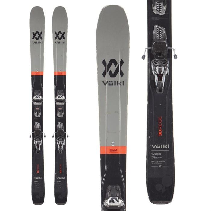 Volkl 90Eight Skis + Marker Griffon 13 TCX Demo Bindings