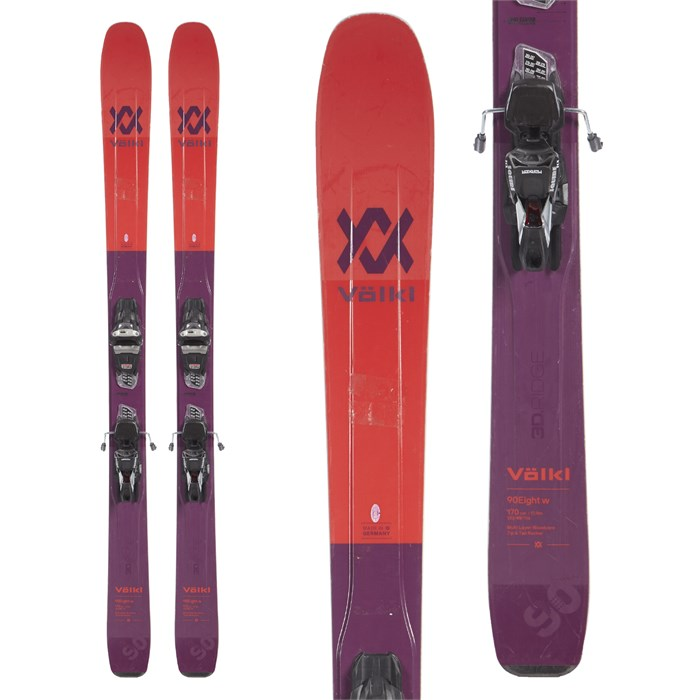Volkl 90Eight Skis + Marker Squire Demo Bindings