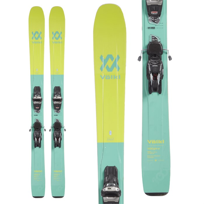 Volkl 100Eight Skis + Marker Squire Demo Bindings