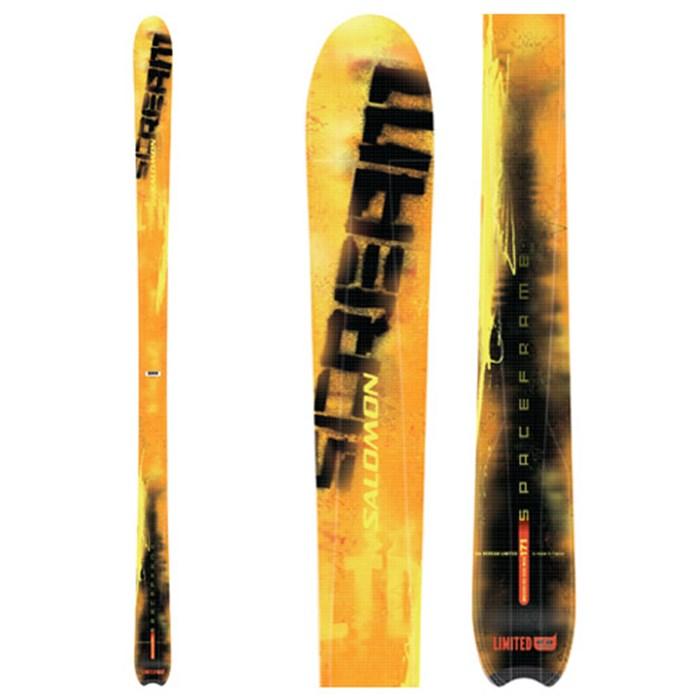 185 Salomon Scream 10 Xtra Hot Skis 200405 with Salomon s912 Ti Bindings