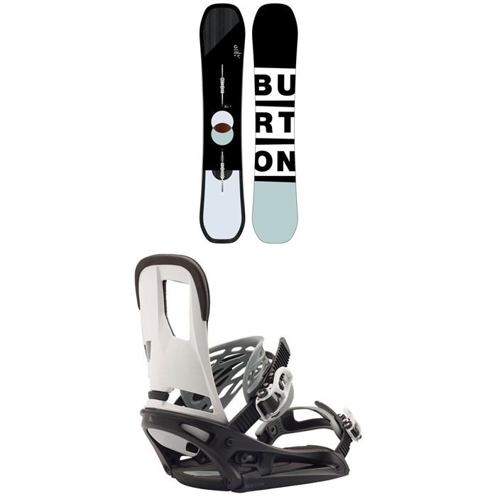 Burton - Custom Snowboard + Burton Cartel EST Snowboard Bindings 2020