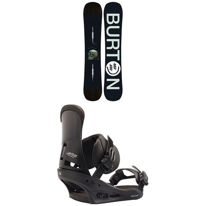 Burton - Instigator Snowboard + Burton Custom Snowboard Bindings 2020