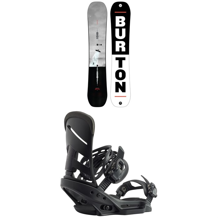 Burton - Process Snowboard + Burton Mission EST Snowboard Bindings 2020