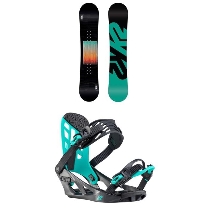 K2 - Vandal Snowboard - Boys' + K2 Vandal Snowboard Bindings - Boys' 2020