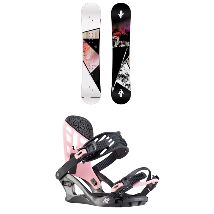 K2 - Kandi Snowboard - Girls' + K2 Kat Snowboard Bindings - Girls' 2020