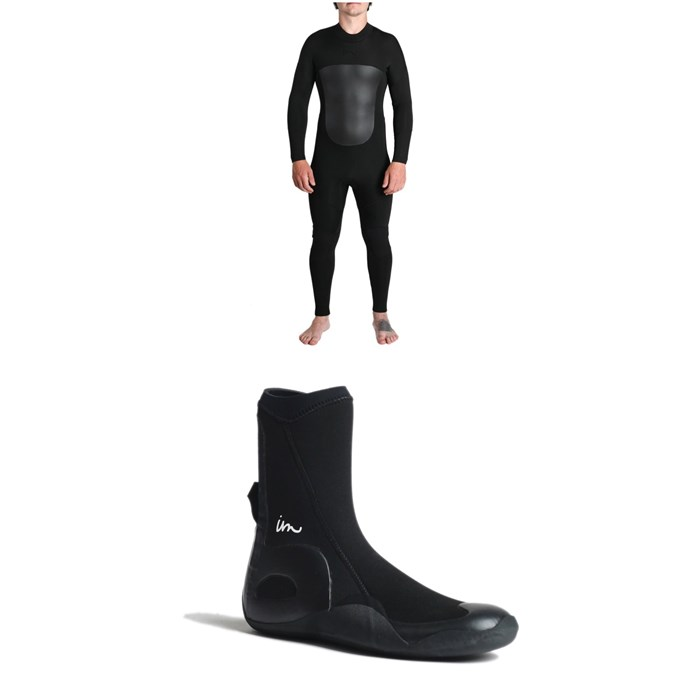 Imperial Motion - 5/4/3 Lux Deluxe Back Zip Wetsuit + Imperial Motion 5mm Lux Round Toe Wetsuit Booties