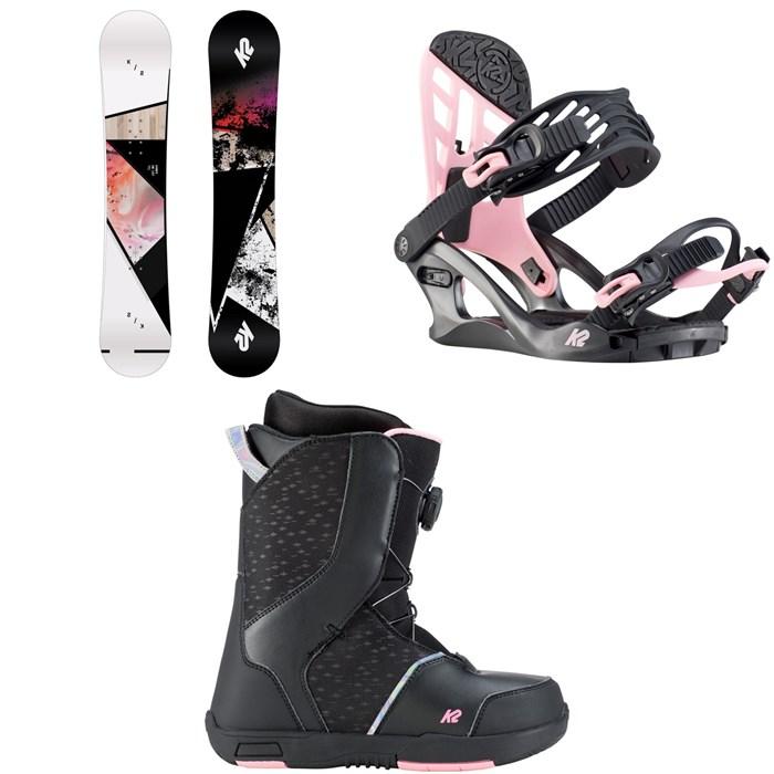 K2 - Kandi Snowboard + Kat Snowboard Bindings + Kat Snowboard Boots - Girls' 2020
