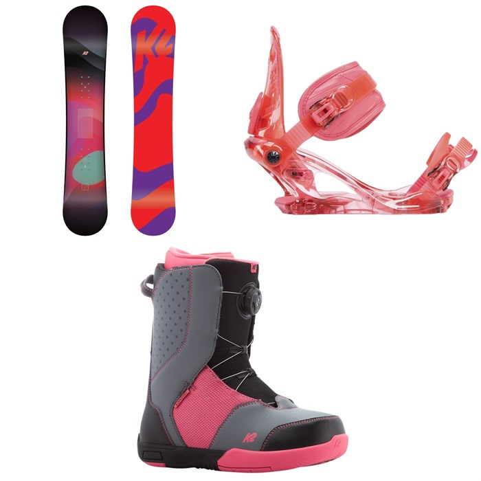 K2 - Kandi Snowboard - Girl's 2019 + Kat Snowboard Bindings - Girls' 2019 + Kat Snowboard Boots - Girls' 2018