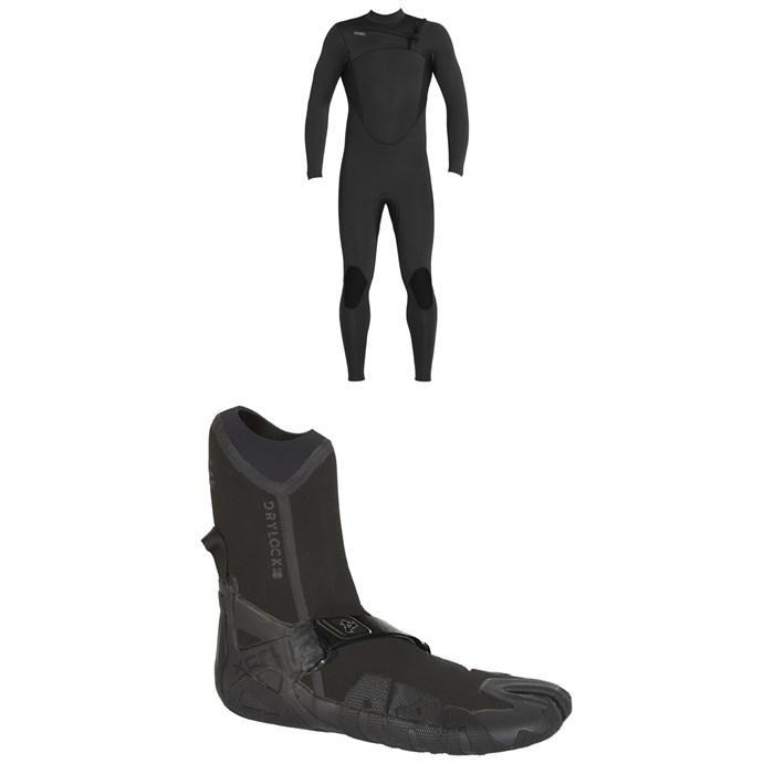 XCEL - 4/3 Comp Thermo Lite Wetsuit + XCEL 3mm Drylock Split Toe Boots