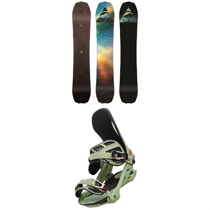 Arbor - Bryan Iguchi Pro Camber Snowboard + Cypress Snowboard Bindings 2020
