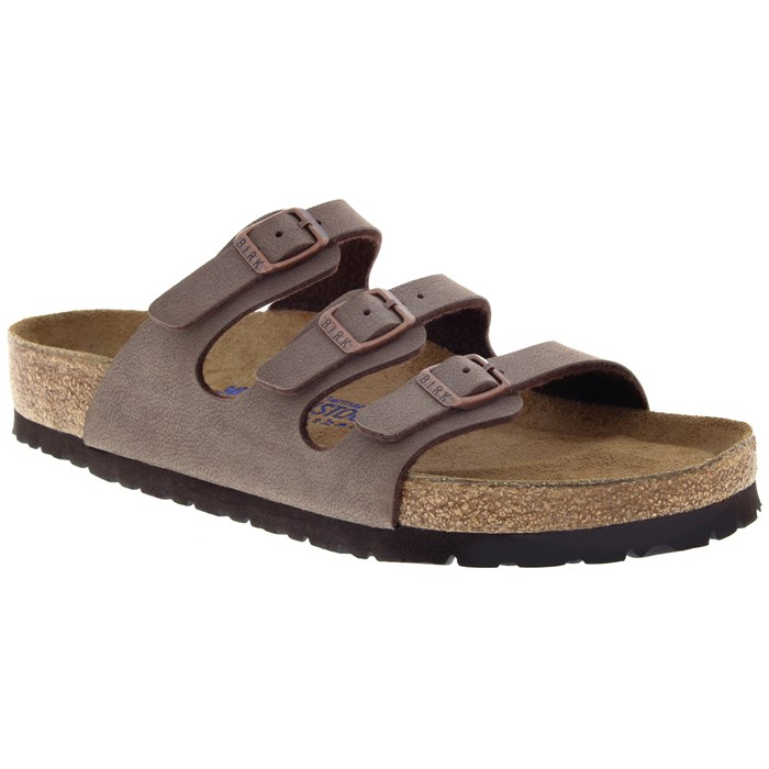 Birkenstock - Florida Birkibuc Soft Footbed Sandals - Women's