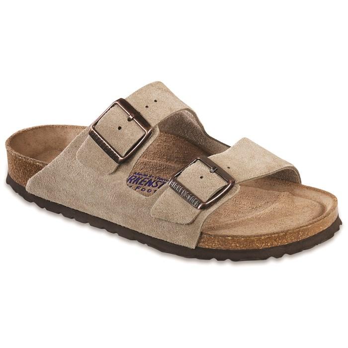 Birkenstock - Arizona Suede Soft Footbed Sandals - Women's
