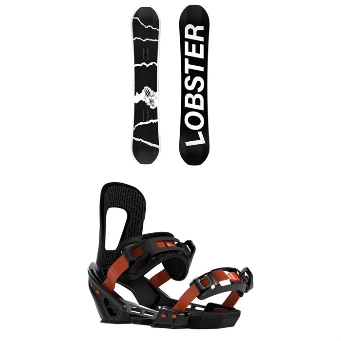 Lobster - The Sender Snowboard + Switchback Smith Snowboard Bindings 2020