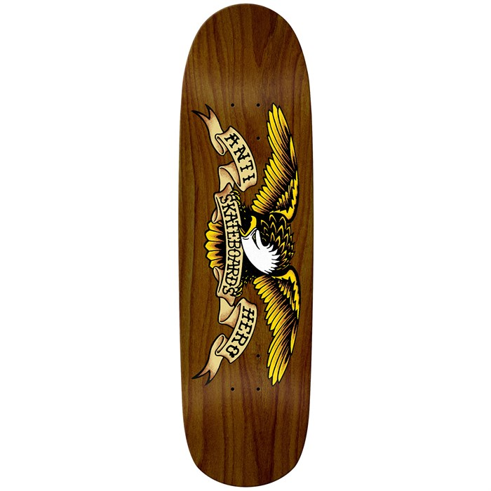 Anti Hero - Shaped Eagle Overspray Brown Bomber 8.86 Skateboard Deck