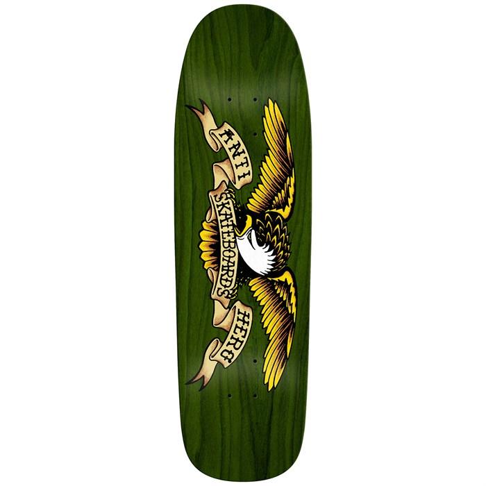 Anti Hero - Shaped Eagle Overspray Green Giant 9.56 Skateboard Deck