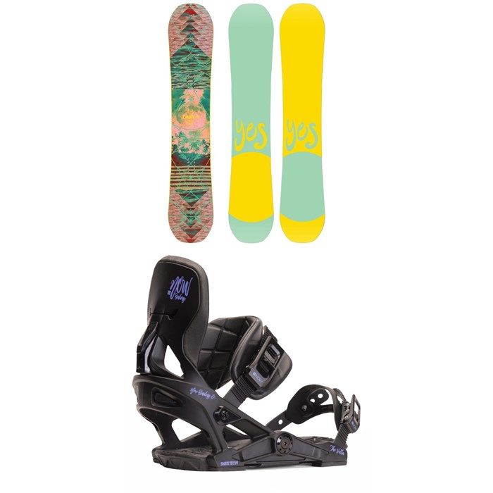 Yes. - Emoticon Snowboard - Women's + Now Vetta Snowboard Bindings - Women's 2020