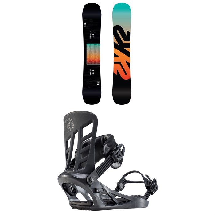 K2 - Afterblack Snowboard + K2 Indy Snowboard Bindings 2020