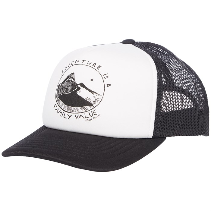 elSage Designs - Adventure Is A Family Value Trucker Hat