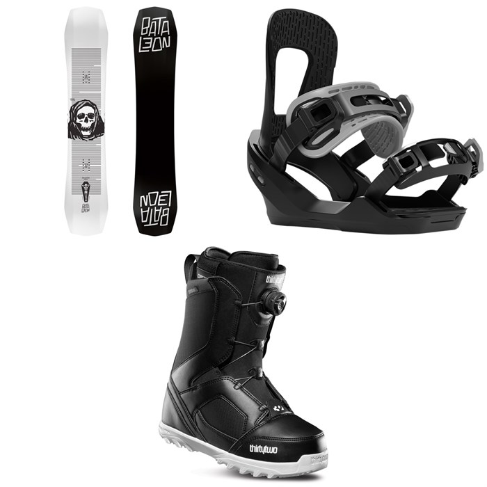 Bataleon - Disaster Snowboard + Switchback Destroyer Snowboard Bindings + thirtytwo STW Boa Snowboard Boots 2020