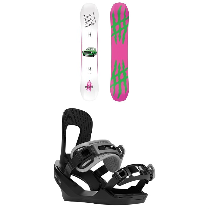 Lobster - The Stomper Snowboard + Switchback Destroyer Snowboard Bindings 2020