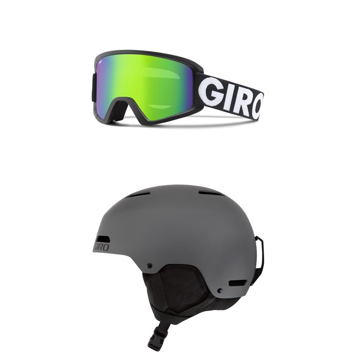Giro - Semi Goggles + Giro Ledge Helmet