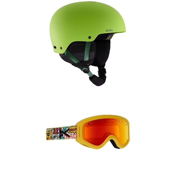 Anon - Rime 3 Helmet - Kids' + Anon Tracker Goggles - Big Kids'