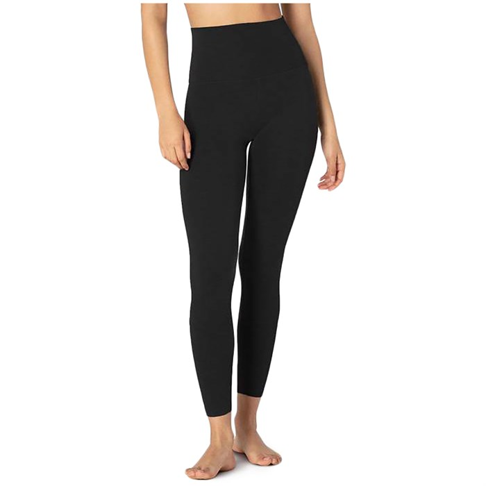 Beyond Yoga - Heather Rib High-Waisted Midi Leggings - Women's