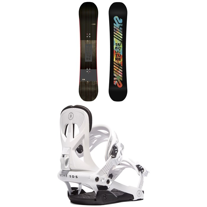 K2 - Subculture Snowboard 2018 + Rome Arsenal Snowboard Bindings 2019
