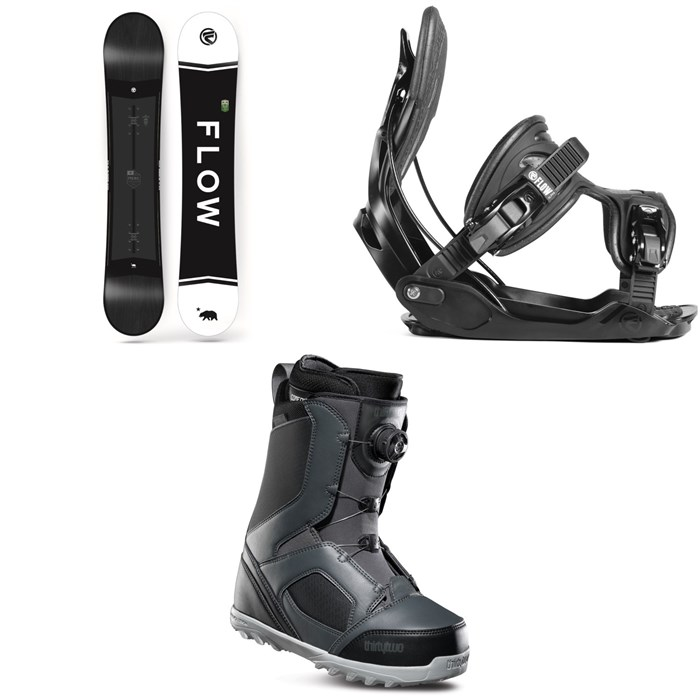 Flow - Merc Snowboard 2018 + Alpha Snowboard Bindings 2019 + thirtytwo STW Boa Snowboard Boots 2019