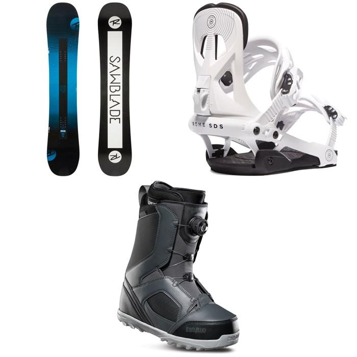 Rossignol - Sawblade Snowboard + Rome Arsenal Snowboard Bindings + thirtytwo STW Boa Snowboard Boots 2019