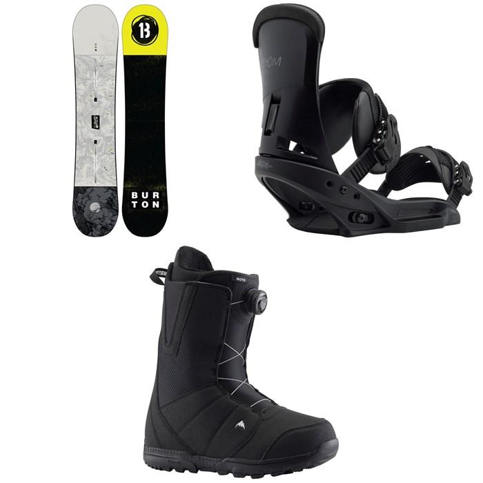 Burton - Descendant Snowboard + Burton Custom EST Snowboard Bindings + Burton Moto Boa Snowboard Boots 2020