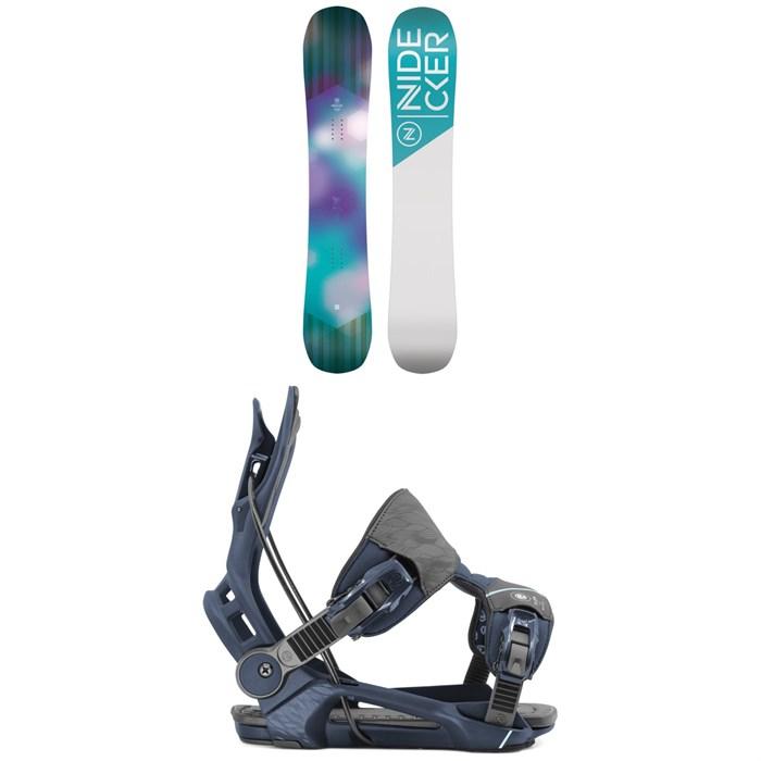 Nidecker - Angel Snowboard - Women's + Flow Mayon Snowboard Bindings - Women's 2020