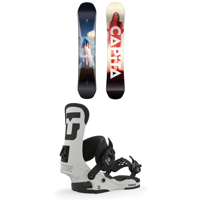CAPiTA - Defenders of Awesome Snowboard + Union Force Snowboard Bindings 2020