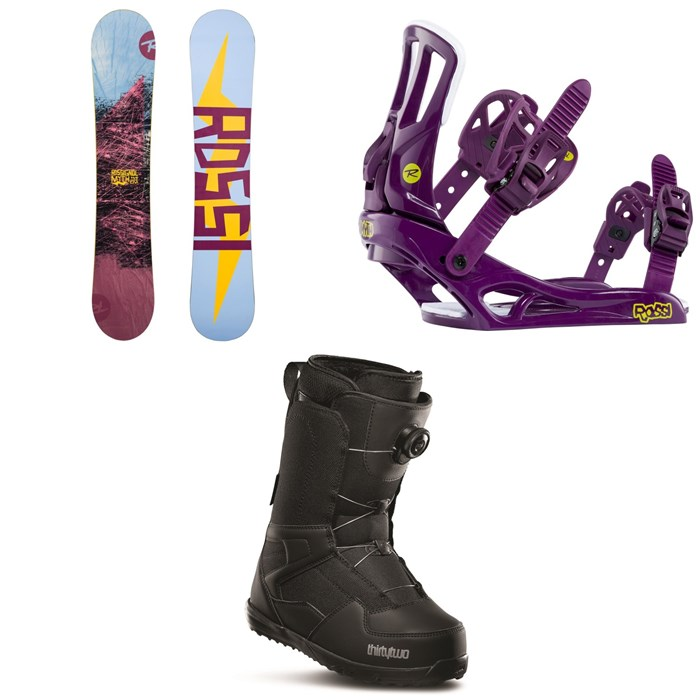 Rossignol - Myth Snowboard + Myth Snowboard Bindings + thirtytwo Shifty Boa Snowboard Boots - Women's 2020