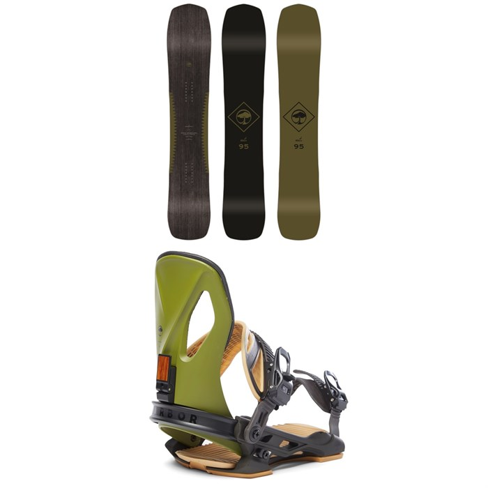 Arbor - Crosscut Camber Snowboard + Arbor Cypress LTD Snowboard Bindings 2020