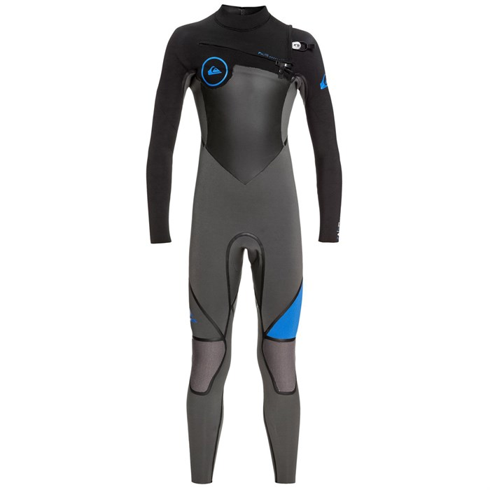 Quiksilver - 4/3 Syncro+ Chest Zip Wetsuit - Big Boys'