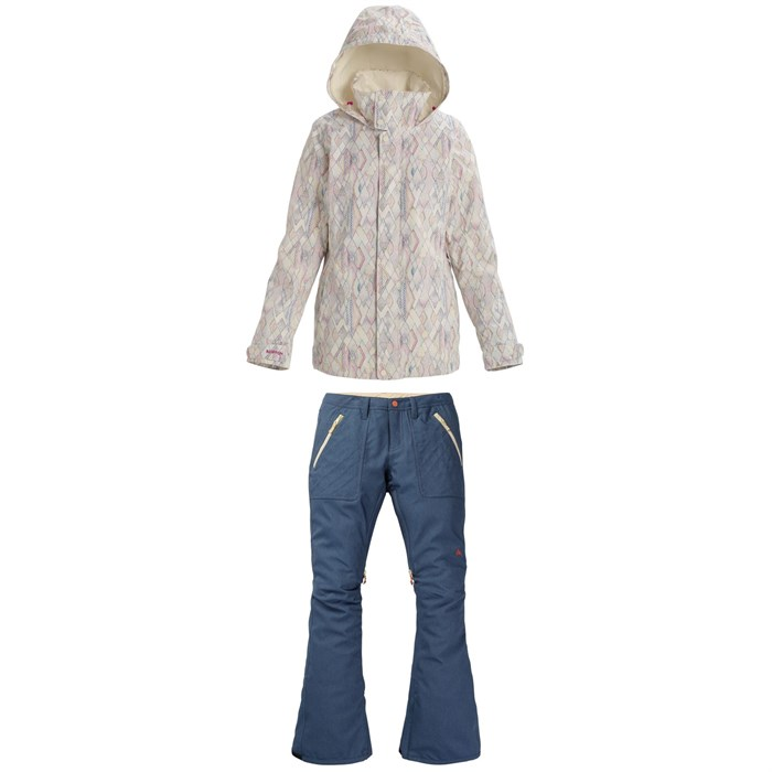 Burton - Jet Set Jacket + Burton Vida Stretch Denim Pants - Women's